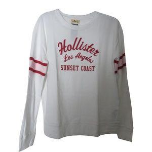 HOLLISTER Women's Crewneck Sweatshirt with Logo